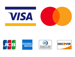 VISA、Mastercard、SAISON、JCB、American Express、Diners Club、Discover Coineyでクレジットカード決済